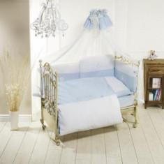 Lenjerie de pat Quintetto Petit Bebe Blue Feretti - Lenjerie pat copii