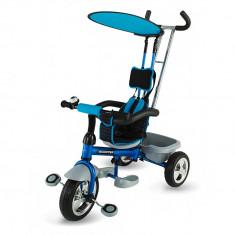 Tricicleta multifunctionala Scooter Plus 117 Albastru DHS - Tricicleta copii