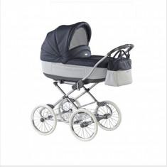 Carucior copii 2 in 1 Marita Prestige Deluxe S156 (Negru cu Gri deschis) Roan, Roz