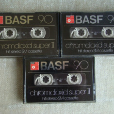 Lot 3 Casete Audio BASF Chromedioxid Super II - 90 min