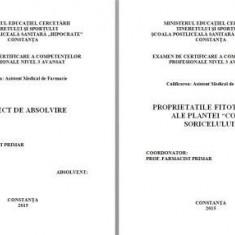 LUCRARE LICENTA AMF PROPRIETATILE FITOTERAPEUTICE ALE PLANTEI COADA SORICELULUI - Carte Farmacologie