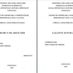 LUCRARE DE LICENTA AMF – LAXATIVE SI PURGATIVE