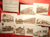 Set10 Ilustrate-Locomotive-Amintiri Feroviare Romanesti-125 Ani Filaret-Giurgiu