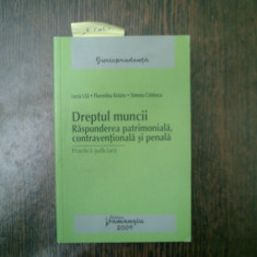 Dreptul muncii Raspunderea patrimoniala, contraventionala si penala - Lucia Uta, Florentina Rotaru - Carte Dreptul muncii