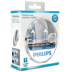 Set Becuri  H7 Philips White Vision Ultra 12v 55W + 2 W5W GR-IS-12972WHVB1