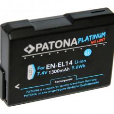 PATONA Platinum | Acumulator pt Nikon EN-EL14 EN EL14 ENEL14 1300mAh - Baterie Aparat foto