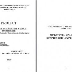 LUCRARE DE LICENTA AMF – MEDICATIA  APARATULUI RESPIRATOR - EXPECTORANTE