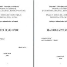 LUCRARE DE LICENTA AMF TRANCHILIZANTE SEDATIVE - Carte Farmacologie