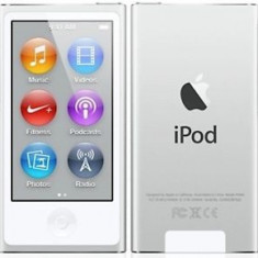 iPod Nano Apple 7th Gen 16GB NOI, Bluetooth, Original, GARANTIE Argintiu sau Negru, 7th generation