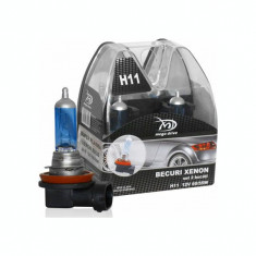 Set 2 Becuri H11 12V 55W - MegaDrive (imitatie Xenon) IS-77020