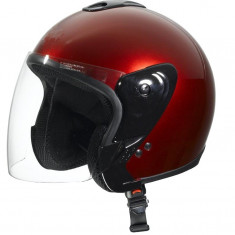Casca Moto Scuter - ATV De Vara Open Face ( L - ROSU ), Marime: L