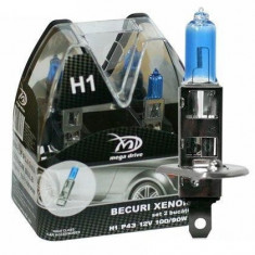 Set 2 Becuri H1 12V 100W - MegaDrive (imitatie Xenon) IS-43213