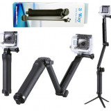 Monopod 3 WAY GoPro Hero 4 3+ 3 trepied,Brat Monopod selfie stick pole