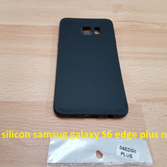 Husa silicon samsug galaxy S6 edge plus negru - Husa Telefon Samsung