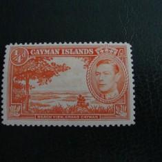 CAYMAN ISLAND GEORGE VI, Nestampilat