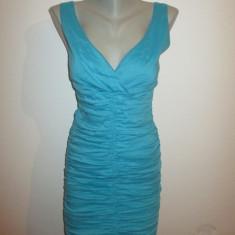 Rochie dama albastra turcoaz marime XS - Rochie de zi, Culoare: Din imagine