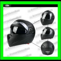 Casca Moto HD Negru cu ochelari Flip-UP, Marime: M, L, XL