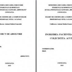 LUCRARE DE LICENTA AMG – INGRIJIREA PACIENTILOR CU COLECISTITA ACUTA