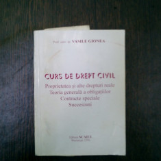 Curs de drept civil - Vasile Gionea - Carte Drept civil