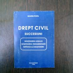 Drept civil succesiuni - Marin Popa - Carte Drept civil