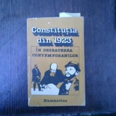 Constitutia din 1923 in dezbaterea contemporanilor - Aurelian Stroe - Carte Istoria dreptului