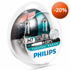 Set Becuri  H7 Philips X TREME Vision +130% putere 12v 55W  GR-IS-12972XV+S2