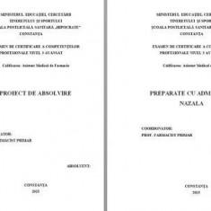 LUCRARE DE LICENTA AMF – PREPARATE CU ADMINISTRARE NAZALA - Carte Farmacologie