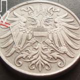 Moneda 2 Heller- AUSTRIA, anul 1918 cod 61 UNC-Zinc RaRa Eroare matrita crapata, Europa