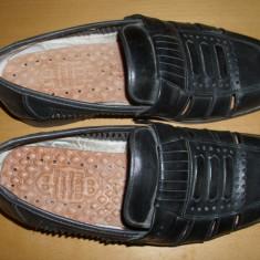 Pantofi barbatesti negrii din piele, Marime: 37-38, Culoare: Negru, Piele naturala