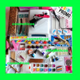 Kit unghii false gel-lampa,freza,cleste,12 geluri colorate, suport -KIT TRENDY
