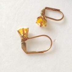 Cercei SUPERBI -eleganti placati cu aur 18k si SWAROVSKI