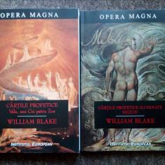 W. Blake - Cartile profetice iluminate. Vala sau Cei patru Zoa. Milton  (2 vol.)
