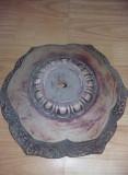 Postament/baza antica sculptata,picior vechi model pt.masa cafea