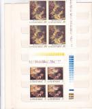 REPRODUCERI DE ARTA I - SCENE DE VANATOARE ( LP 741 ) 1970 BLOC DE 4, Nestampilat