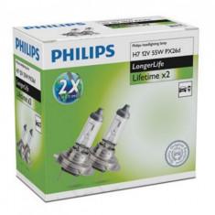 Set Becuri H7 Philips Long Life   GR-IS-12972ELC2