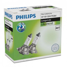 Set Becuri H7 Philips Long Life GR-IS-12972ELC2
