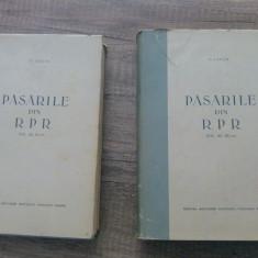 Pasarile din R.P.R. / RPR - D. Lintia/ volumele II si III - Carte Zoologie