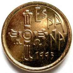 SPANIA, 5 PESETAS 1995, ASTURIAS, DESIGN UNIC !!!, Europa, Bronz