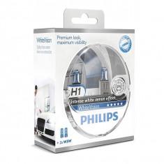 Set Becuri H1 Philips WHITE VISION  XENON EFECT +60%  GR-IS-12258WHVSM