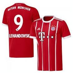 Tricou BAYERN, 9 LEWANDOVSKI, Model nou 2017/2018 - Echipament fotbal, Marime: XXL, XL, Tricou fotbal