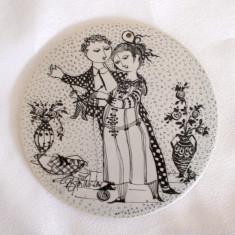 Placa ceramica / Tablou - portelan Bavaria - Rosenthal - Noiembrie