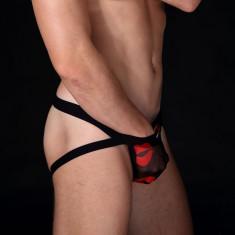 Jockstrap / suspensor / lenjerie intima fara spate barbati - semitransparent, Marime: M, L, Culoare: Din imagine