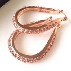 OFERTA-Cercei SUPERBI eleganti placati cu aur 18k si cristale zirconia