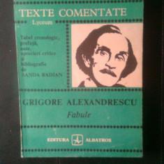 Grigore Alexandrescu - Fabule (Editura Albatros, 1986; col. Lyceum)