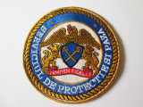 Emblema textila SPP/Serviciul de Protectie si Paza,diametrul=95 mm
