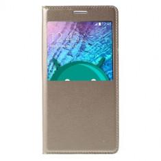 Husa Flip Cover Samsung Galaxy J5 (2015) - Gold - Husa Telefon Nokia