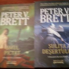 OMUL PICTAT/ SULITA DESERTULUI -PETER V BRETT - Carte de aventura