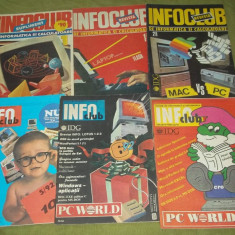 Lot sase reviste informatica anii 1990-1992 InfoClub (info club) - Revista IT