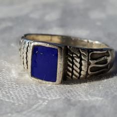 RAR Inel argint TUAREG tribal cu LAPIS LAZULI superb VECHI vintage SPLENDID