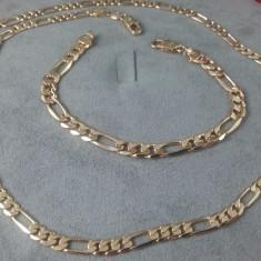 Set Unisex Lant +Bratara dublu placat aur rosu 24K Cod produs: STB 3R - Set bijuterii placate cu aur